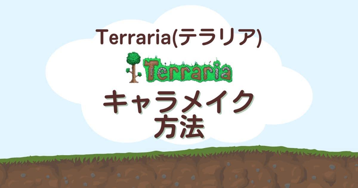 Terraria(テラリア)のキャラメイク方法!キャラクター作成手順や種類を解説